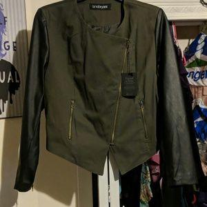 Lane Bryant Faux Leather Jacket Size 18/20